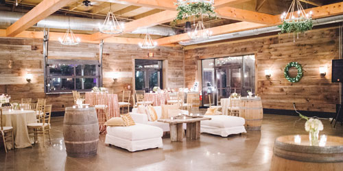 Winter Wedding Indoor Reception - Newport Vineyards - Newport, RI - Photo Credit Meliissa Trudeau