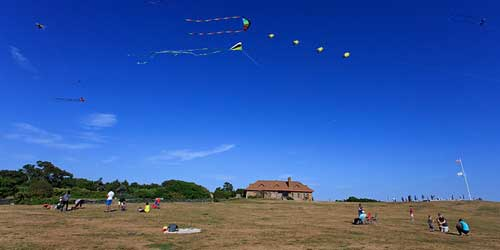 kite flying at Brenton Point State Park in Newport-credit-RI Commerce Corp