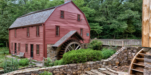 Gilbert Stuart Birthplace and grist mill in RI