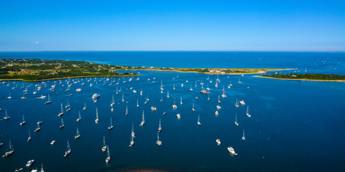 Block Island Harbor View - Heliblock Helicopter Tours - Westerly, RI