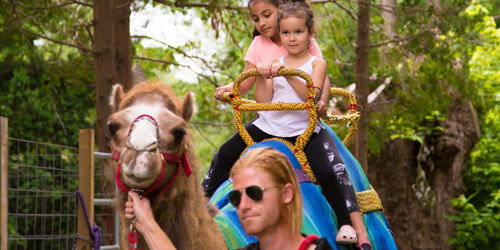 Girls Camel Ride - Roger Williams Park Zoo - Providence, RI