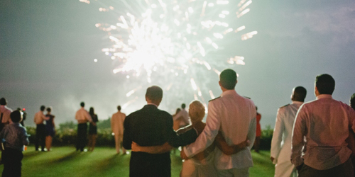 Wedding Fireworks - Ocean House Resort - Watch Hill, RI - Photo Credit Leila Brewster Photography