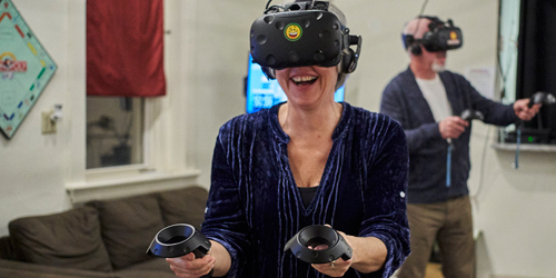 Virtual reality play in providence