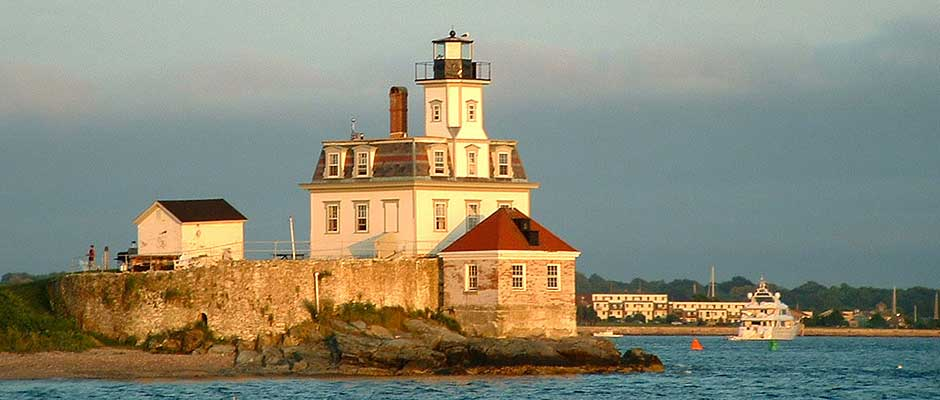 Rose Island Lighthouse near Newport, RI