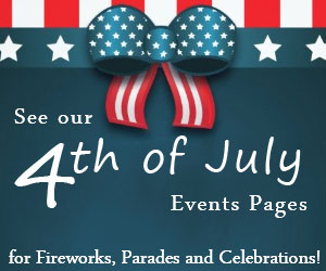 Click here to see VNE's July 4th 2017 Weekend Events Calendar! Fireworks shows, Parades and Celebrations!