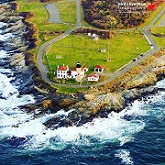 Beavertail Lighthouse - Bird's Eye View Helicopters - Middletown, RI